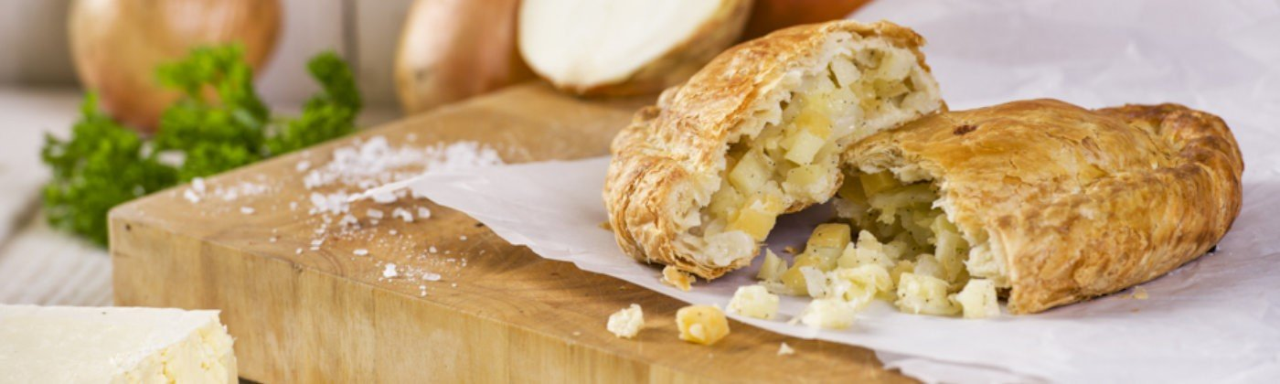 Cheese and onion pasty