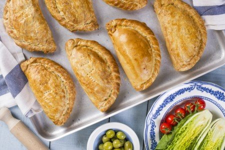 Cornish pasties, bacon baps and sandwiches fuelling Cornwall's workers.