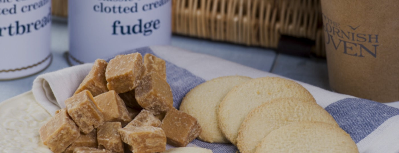 Fudge and biscuits